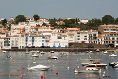 The marina of Cadaques Costa Brava Stock Photography