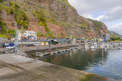 Marina in Calheta Stock Photo