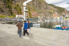 Marina in Calheta Stock Photos