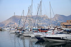 Marina in Calpe, Spain Stock Photo