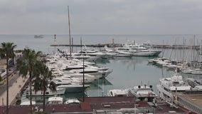 Marina Cannes France stock footage
