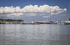 Marina Cape Cod Stock Photo