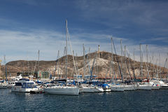 Marina of Cartagena, Spain Royalty Free Stock Image