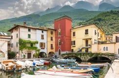 Marina of Cassone at Lake Garda Royalty Free Stock Photos