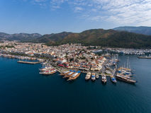 Marina and castle in Marmaris, Turkey Stock Images