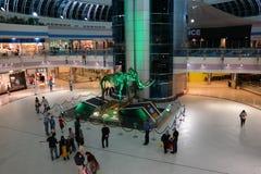 Marina centrum handlowego Abu Dhabi goście wokoło mamuta obrazy stock