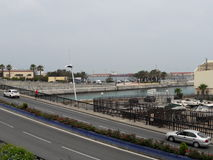 Marina ceuta,Ceuta, Spain. Ceuta marina beach center 2017 Stock Photography