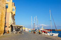 Marina in Chania on Crete, Greece Stock Images