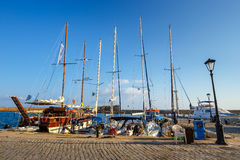 Marina in Chania on Crete, Greece Stock Photos
