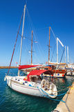 Marina in Chania on Crete, Greece Royalty Free Stock Photos