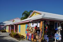 Marina chez les Bahamas image stock