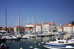 Marina chez Piran Photographie stock libre de droits