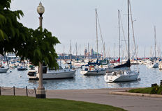 Marina in Chicago Stock Photo