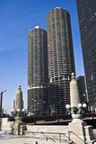 Marina City. In Chicago, IL royalty free stock photography