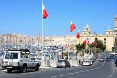 Marina and city buildings, Vittoriosa. Royalty Free Stock Image