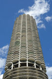 Marina City in Chicago. A unique round skyscraper with parking underneath housing unite royalty free stock photography