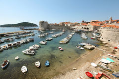 Marina at the city of Dubrovnik by the Adriatic se Royalty Free Stock Photo