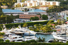 Marina and City of St. Thomas, USVI Royalty Free Stock Photography