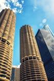 Marina City Tower-Gebäude stockbild