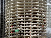 Marina City Tower Parking Deck in Chicago Royalty Free Stock Photo