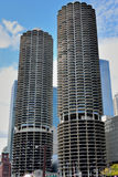 Marina City Towers, Chicago. Marina City Towers in Chicago city, beside Chicago river. Photo taken on: October 6th, 2014 Royalty Free Stock Image