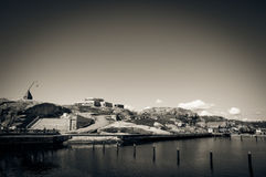 The marina on the coast Verdens ende, Norway Stock Image