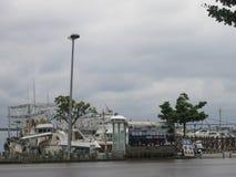 Marina Coastal Berth at Port Complex in Taiwan Stock Images
