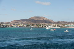 Marina in Corralejo, a town located on the northern tip of Fuerteventura Stock Image