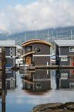 Marina Cottages Vertical imagem de stock royalty free