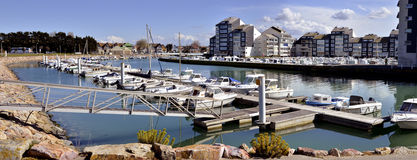 Marina of Courseulles in France Stock Image