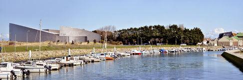 Marina of Courseulles in France Royalty Free Stock Photos