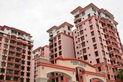 Marina Court Resort Condominium Facade i Malaysia Royaltyfria Bilder