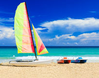 Marina at the cuban beach of Varadero Royalty Free Stock Photo