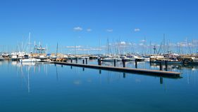 Marina in Cyprus. With water reflections Royalty Free Stock Photos