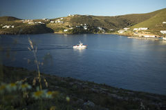 Marina d'île de Grec de Kythnos Images stock