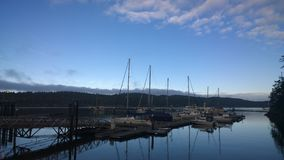 Marina d'île de Pender Photo libre de droits
