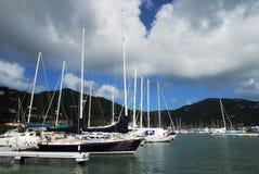 Marina d'île de Tortola images libres de droits