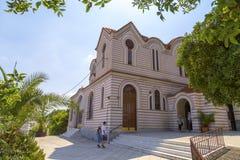 Marina d'Agia d'église, Athènes, Grèce Images libres de droits