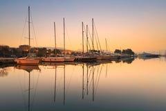 Marina d'Alimos à Athènes Photo stock