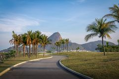 Marina da Gloria track and Sugar Loaf Mountain on background - Rio de Janeiro, Brazil. Marina da Gloria track and Sugar Loaf Mountain on background in Rio de stock photos