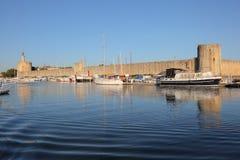 Marina dans Aigues-Mortes, France Photo libre de droits