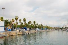 Marina dans le port Vell le 14 2012 septembre 2009 dans Barcelona.= Photo stock