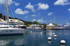 Marina dans Marigot, Français St Martin Photos stock