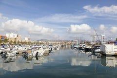 Marina dans Puerto de Mazarron, Espagne Image stock