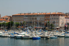 Marina dans Saint-Raphael, France Photographie stock libre de droits