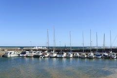 Marina dans Svaneke sur l'île de Bornholm Image libre de droits
