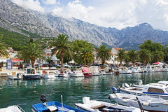 Marina de Baska Voda Photographie stock libre de droits