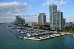 Marina de bateau de Miami Beach image libre de droits