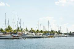 Marina de bateaux Photos libres de droits