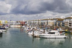 Marina de Brighton. Le Sussex. l'Angleterre photographie stock libre de droits